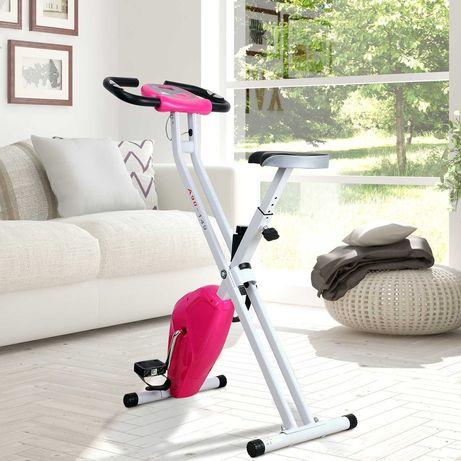 Rower kompaktowy NOWY Rowerek stacjonarny Składany treningowy różowy