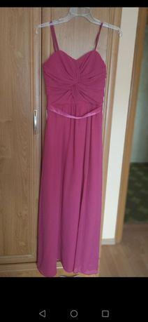 Długa maxi sukienka fuksjowa różowa
