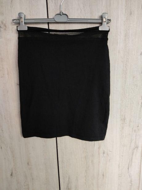 spódnica, spódniczka dzianinowa, czarna, mini sinsay rozm. 40