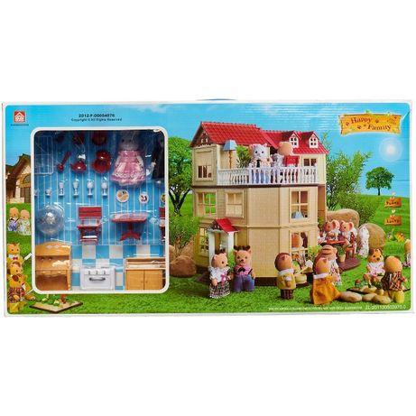 Двухэтажный загородный домик Happy Family (аналог сильваниан фэмилис)