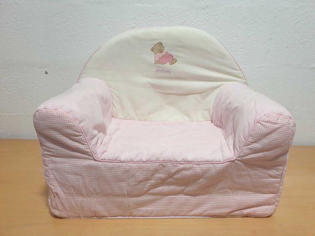 Sofá Poltrona Criança Rosa
