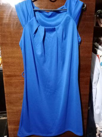 Синее платье. Весеннее