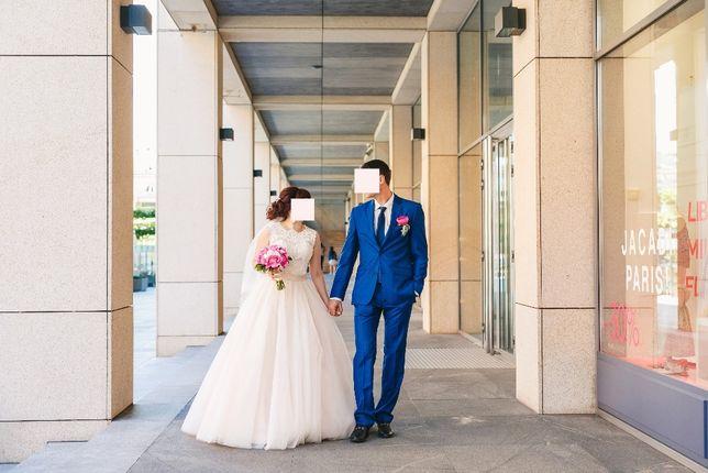 свадебное платье Джойс розовая пудра