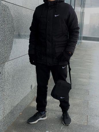 Парка мужская ЗИМНЯЯ Nike до -30* куртка пуховик Найк чоловіча зимова