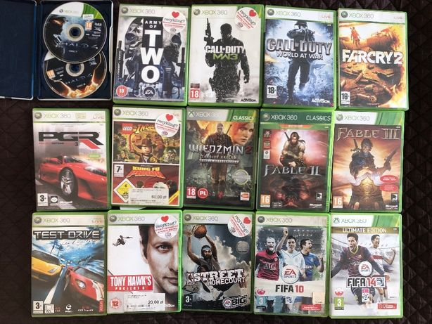 Gry Xbox 360, Kinect LEGO FIFA WIEDŹMIN HALO CALL OF DUTY Fable - opis