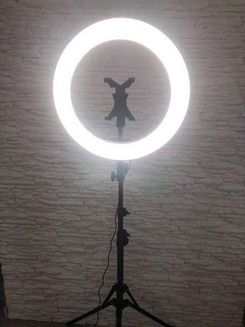 nowa Lampa do makijażu fotografii 18 cali pierścieniow led ze statywem