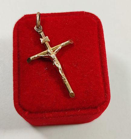 Złota Zawieszka Krzyż 3,10g / 585