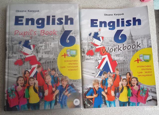 Підручник учебник тетрадь для  6 класу  Карп'юк