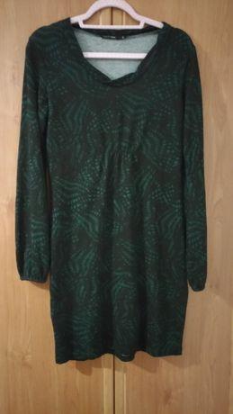 Sukienka Cary rozmiar L 40 czarno , butelkowa zieleń