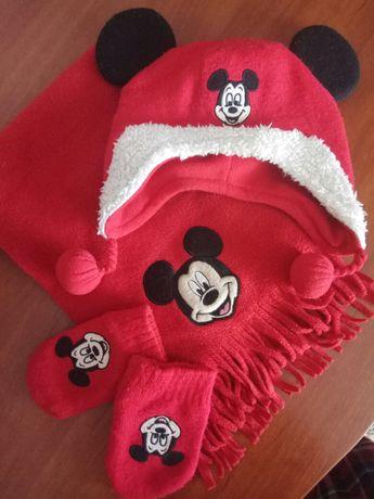 Набор: шапка, варежки и шарф