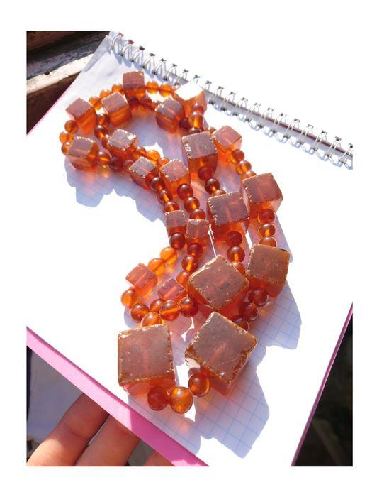 Отличный подарок.бусы янтарь Калининград 86,6 грамм.Длина 77 см Киев - изображение 1