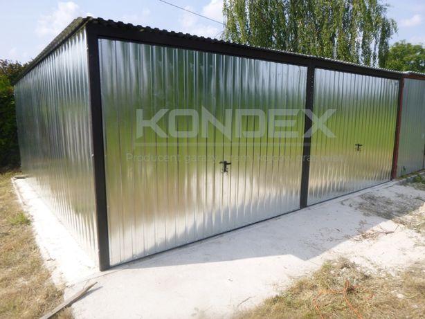 Garaż blaszany Blaszak 3x5 Garaże WZMOCNIONE Producent 3x5 3x6 4x5 4x6