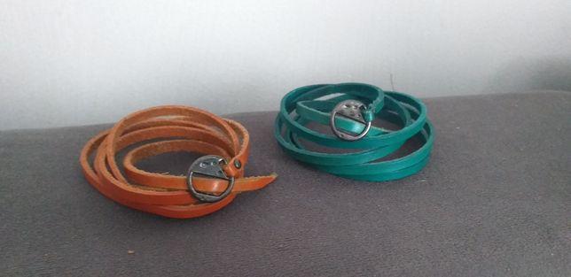 Skórzane bransoletki cena za dwie sztuki