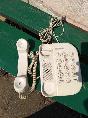 Telefon stacjonarny kremowy niesprawny