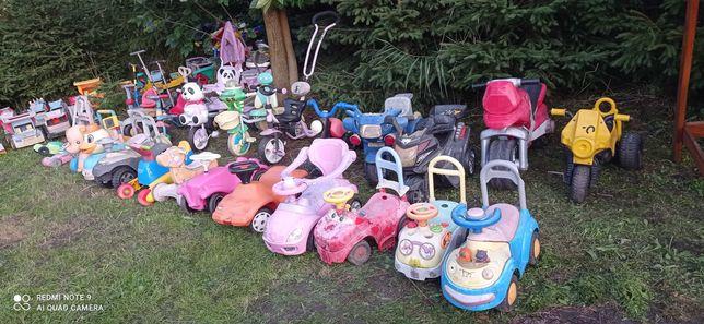 Zabawki rowery, traktorki, hulajnogi, pchacze itp.