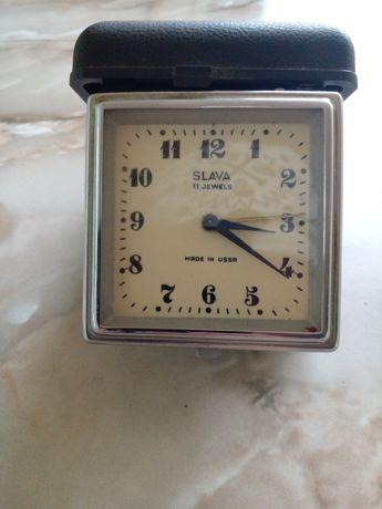 Часы будильник дорожные Слава
