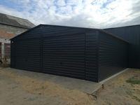 garaże blaszane, garaż 7x6 , dach dwuspadowy, grafit , hale , profil