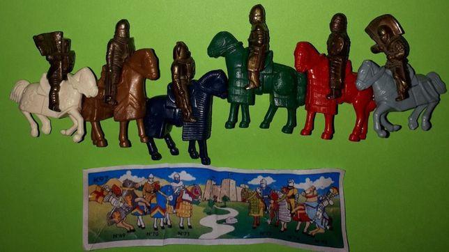 Metalowe figurki z Kinder Seria Jeźdźcy