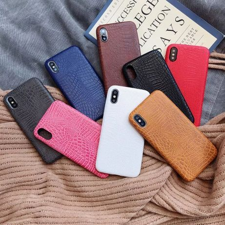 Кожаный чехол на Айфон 5 6 7 8 10 11 X R s se Max Pro Plus для iPhone