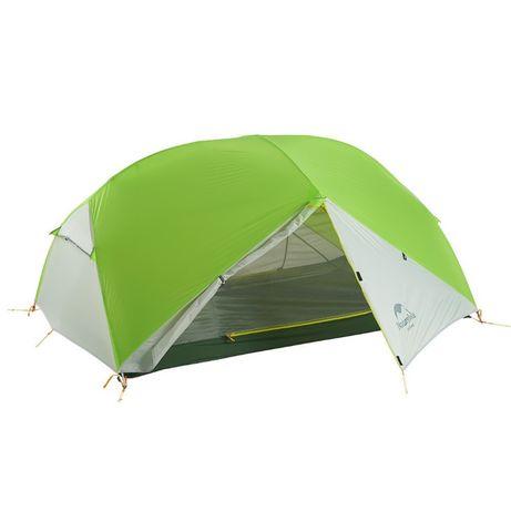 Двухместная палатка Naturehike Mongar 20D Green/Grey Silicone нейлон