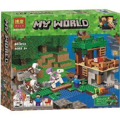 Конструктор Lele 10989 Майнкрафт Нападение армии скелетов Lego лего