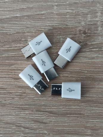 Adapter przejściówka z Micro USB na USB typu C do telefonu