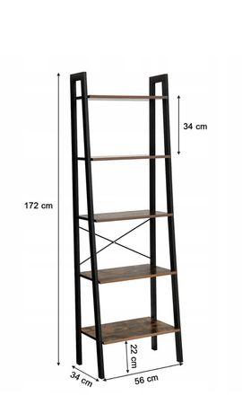 Nowy industrialny regał 5 półek 175cm szerokosc 56cm