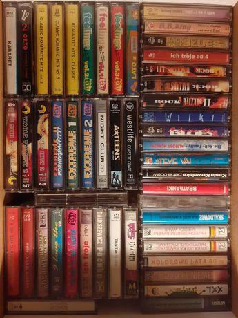 kolekcja kaset magnetofonowych ponad 30 szt., duży wybór