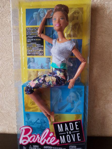 Шарнирная кукла Барби Йога Двигайся как я Barbie Made to Move.Оригинал
