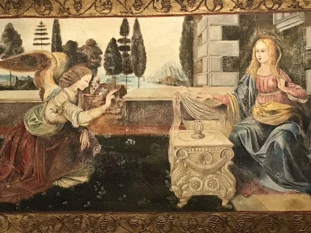 Fresco Anunciação de Da Vinci