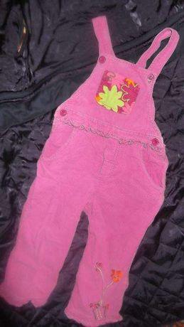 Комбинезон розовый вельветовый