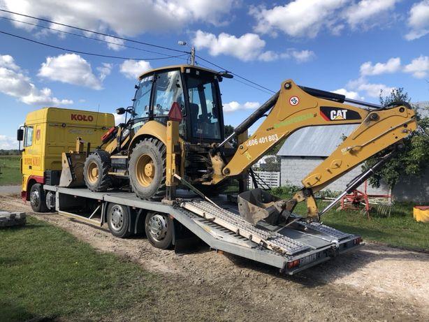 Transport niskopodwoziowy maszyn budowlanych rolniczych ciężarówek