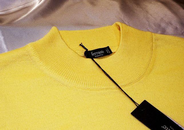 Ferrante XL sweter półgolf żółty tom ford lacoste kenzo dolce&gabbana