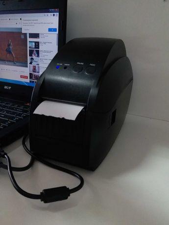 Термо принтер чеков и этикеток+сканер штрих-кодов