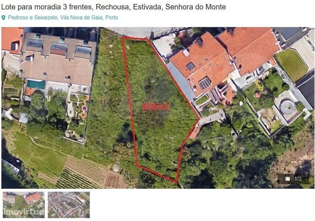 Para construção de moradias 3 frentes! Terreno em Urbanização (V. N. de Gaia)