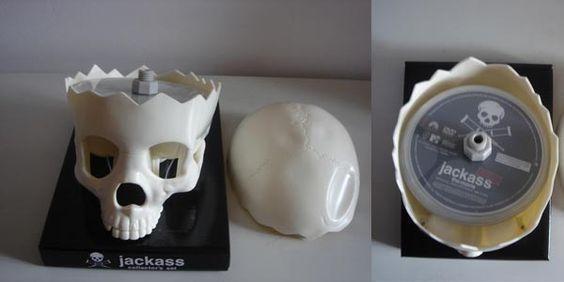 MTV Jackass Skull collection, 6DVDs (caveira, edição de coleccionador)