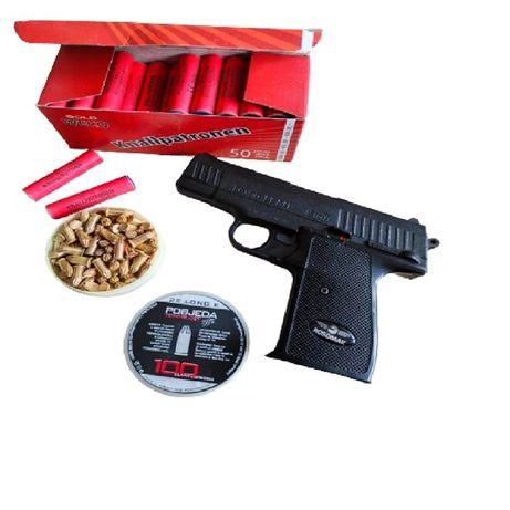 Pistolet hukowy 6mm LEXON 11 zestaw 50 RAC + 100 ślepaków