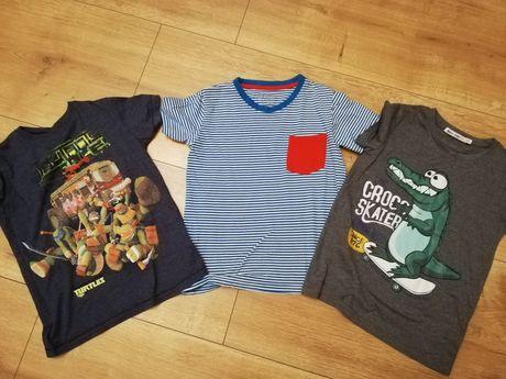 Bluzeczki t-shirt krótki rękaw ŻÓŁWIE NINJA Kroko rozm 122-128