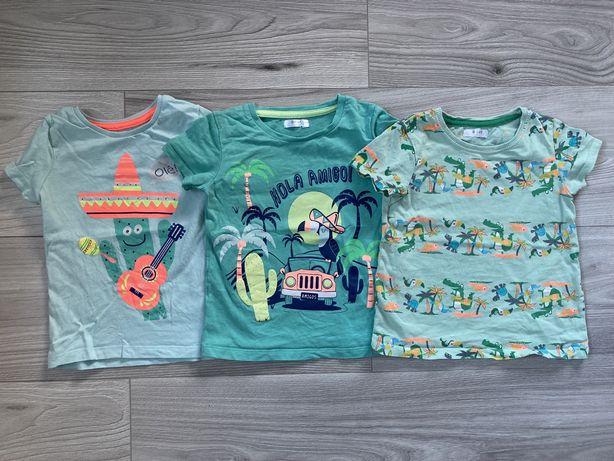 Koszulki t-shirty Pepco 80/86/92 zielone pomarańcz kaktus tukan