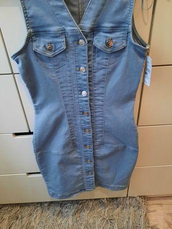 Sukienka jeansowa roz xs,nowa