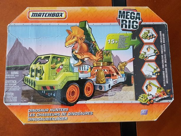 Matchbox- pojazd i dinozaur