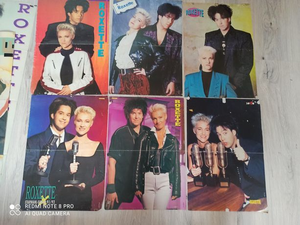 Roxette plakaty z własnej kolekcji.
