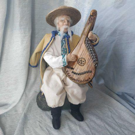 Авторская интерьерная текстильная кукла  Кобзарь