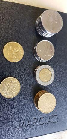 Monety włoskie,  50 lire 100lire