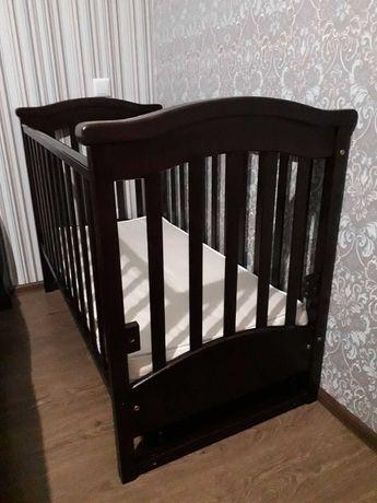 Детская кроватка Верес Соня ЛД3(60*120)(Орех)+матрас(Комфорт Таун)