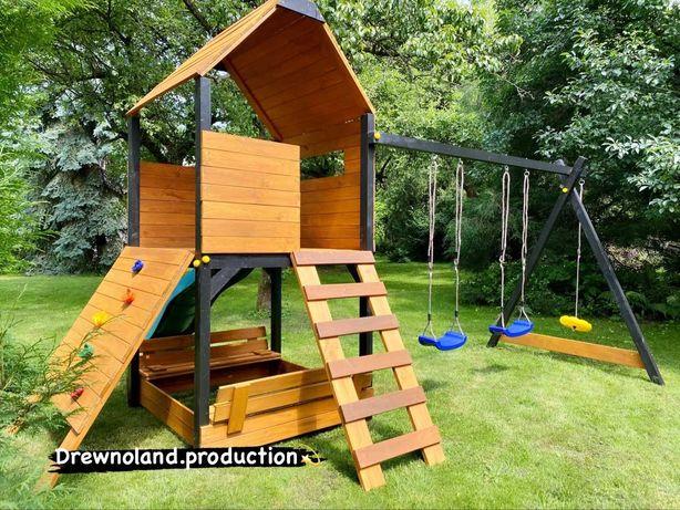 Drewniany Plac zabaw zabudowany Montaż gratis! Transport