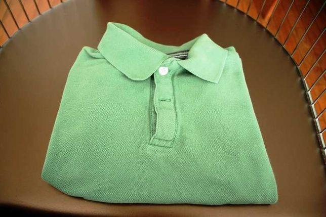 Polo verde de criança zara kids Tamanho 4-5anos 110 cm linha azul