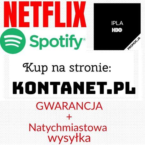 NETFLIX Spotify HBO GO Nieblokowane 30|60 Dni Premium 4K UHD