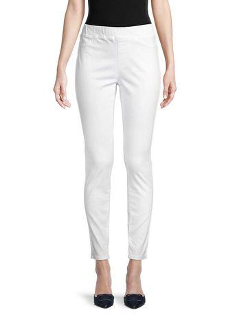 Белые джинсовые штаны