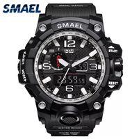 227 Męski zegarek SMAEL sportowy zegarek podwójny wyświetlacz